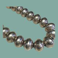 "Sterling Silver Navajo ""Pearls"""