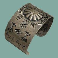 1940's Silver Cuff Bracelet
