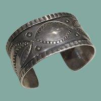 Vintage Silver Repousse Bracelet