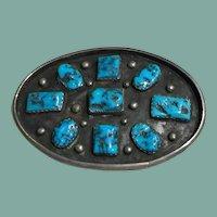 Belt Buckle with Kingman Turquoise