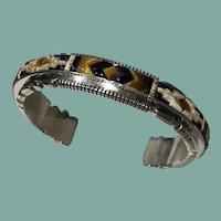 Inlay Bracelet by Navajo Thomas Francisco