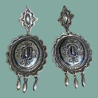 Silver Navajo Style Dangle Earrings