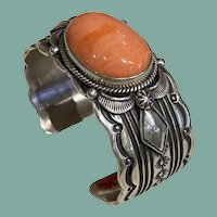 Sterling Silver Bracelet with Japanese Coral
