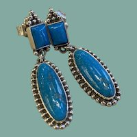 Turquoise Earrings by Roie Jaque