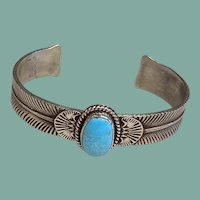 Southwestern Style Turquoise and Silver Bracelet