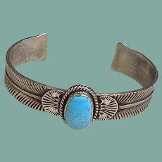 Southwestern Style Turquoise and Silver Bracelet
