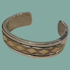 Sterling Silver and 14K Gold Bracelet