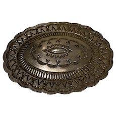 Southwestern Style Silver Belt Buckle