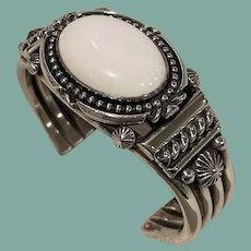 Sterling Silver and White Bracelet