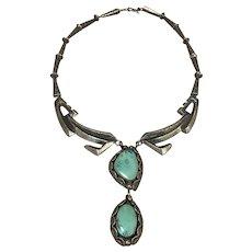 Vintage Cast Necklace with Variscite