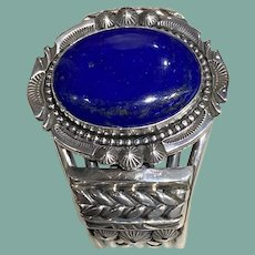 Lapis and Sterling Bracelet by Jeanette Dale