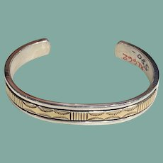 Sterling Silver and 14K Gold Bracelet