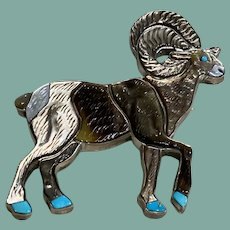 Big Horn Sheep Pin/Pendant