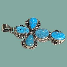 Kingman Turquoise Cross by Roie Jacque