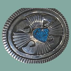 Silver Belt Buckle by  Philbert Begay