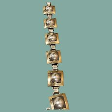 Sterling Silver and 14K Gold Bracelet by Leonard Schamalie
