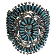 Large Turquoise Cluster Bracelet