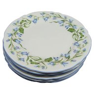 "6 Shelley Harebell Bone China 6"" Dessert Plates"