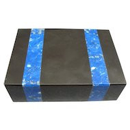 Vintage Onyx and Blue Lapis Box