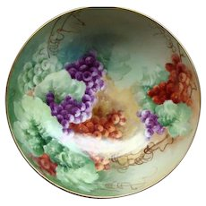 Tressmann & Vogt T&V Limoges Hand Painted Punch Bowl Ca 1890