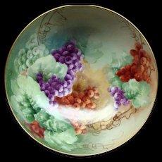 Tressmann & Vogt T&V Limoges Hand Painted Punch Bowl Ca 1890