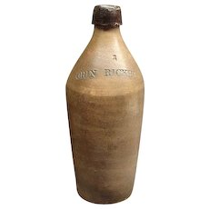 RARE Orin Ricker Maine Stoneware Bottle Poland Spring Ca 1840
