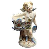 Victorian Figural Conta & Boehme Cherub Vase