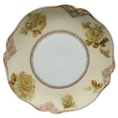 "Silesia Ohme Old Ivory 7 3/4"" Plate #84 Mint Condition"