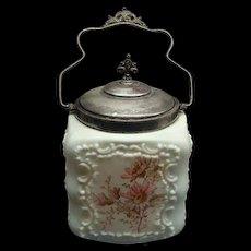 Victorian Mt Washington Cracker Or Biscuit Jar Ca 1870