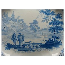 "18 1/2"" English Turner Transferware Platter & Drainer Ca 1790"