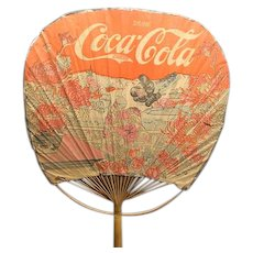Rare 1890's Coca Cola Bamboo and Paper Advertising Hand Fan