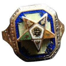 Vintage Ladies Eastern Star 10K Gold Ring Size 4.5
