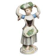 Meissen Figurine The Gathering Lady Ca 1875