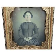 1\6th Plate Daguerreotype Dag Of A Young Lady With Pink Cheeks