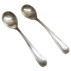 Pair of Antique Webster Sterling Silver Salt Spoons