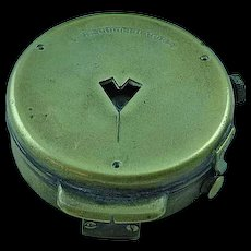 WWI WW1 U.S. Army Engineer Corps Brass Field Compass Cruchon & Emons Berne 60629