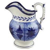 Large Antique Staffordshire Pearlware Signed Mayer Water Pitcher
