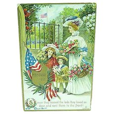 1909 Embossed Memorial Day Postcard Artist Signed Chapman - Red Tag Sale Item