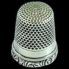 Vintage Sterling Silver Sewing Thimble Size 5