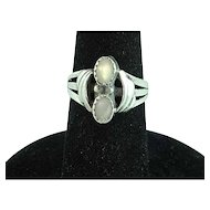 Sterling Silver And Mother Of Pearl Ring Size 7 3/4