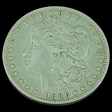 1886 O Morgan Silver Dollar Orleans Mint