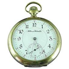 Antique GF Illinois 179 Movement 21 Jewel 6 Adj Pocket Watch Runs Well C 1896