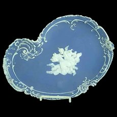 "Antique 12 1/2"" Schafer & Vater Jasperware Art Nouveau Dresser Tray"