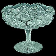 Antique ABP American Brilliant Period Cut Glass Compote