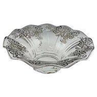 """11"""" Elegant Glass Sterling Silver Overlay Center Bowl"""