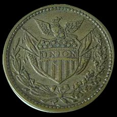 1860's Civil War Token Union Army Navy With Union Eagle & Shield