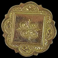 Antique Victorian Gold Filled Engraved Brooch Pin