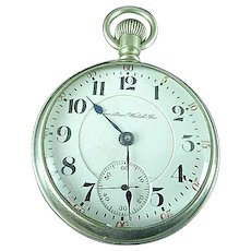 18s Hamilton Grade 936 RR 17 Jewel Adjusted 5 Positions Pocket Watch 1907