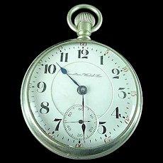 18s Hamilton Grade 936 RR 17 Jewel Adjusted 5 Positions Pocket Watch 1907