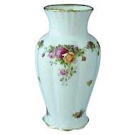 "Vintage Royal Albert Old Country Roses Bone China 9"" Montrose Vase"